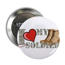 "I love my soldier logo 2 2.25"" Button"