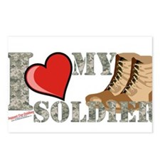 I love my soldier logo 2 Postcards (Package of 8)