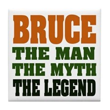 BRUCE - The Legend Tile Coaster
