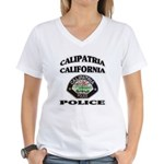Calipatria Police Women's V-Neck T-Shirt
