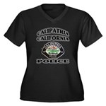 Calipatria Police Women's Plus Size V-Neck Dark T-