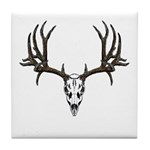 European mount mule deer Tile Coaster