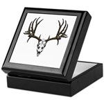 European mount mule deer Keepsake Box