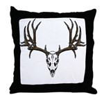 European mount mule deer Throw Pillow