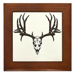European mount mule deer Framed Tile