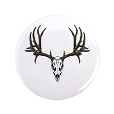 "European mount mule deer 3.5"" Button (100 pack)"