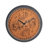 Asian Dragons Wall Clock