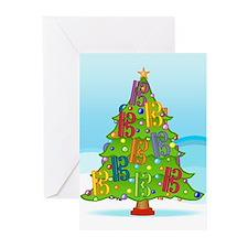Alto/Tenor Clef Christmas Greeting Cards (Pk of 20