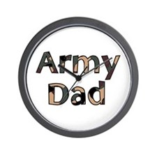 Army Dad Camo Wall Clock