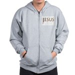 Jesus...No Greater Love Zip Hoodie