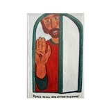 Welcoming Jesus Rectangle Magnet (10 pack)