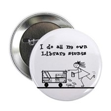 "Library Chick 2.25"" Button"