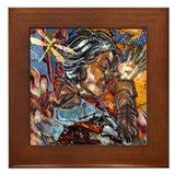 Raven Goddess Framed Tile