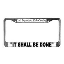 2nd Squadron 13th Cavalry License Plate Frame