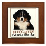 Dog Beers Framed Tile