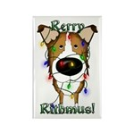 Smooth Collie - Rerry Rithmus Rectangle Magnet