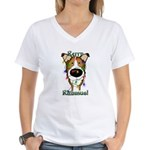 Smooth Collie - Rerry Rithmus Women's V-Neck T-Shi