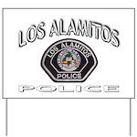 Los Alamitos Calif Police Yard Sign