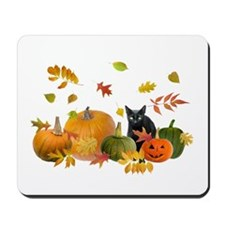 Black Cat Pumpkins Mousepad