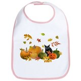 Black Cat Pumpkins Bib