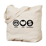 Peace Love Economics Tote Bag