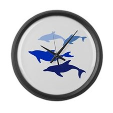 Dolphin Logo Large Wall Clock