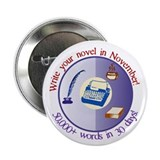 "Write your novel in November! 2.25"" Button (1"