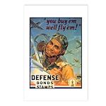 We'll Fly Em Pilot Postcards (Package of 8)