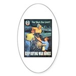 Sky's the Limit Poster Art Oval Sticker