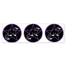 TRI FERRET PENTAGRAM Custom Bumper Sticker