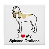 Spinone Italiano Tile Coaster