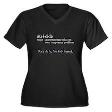 Suicide Definition Women's Plus Size V-Neck Dark T
