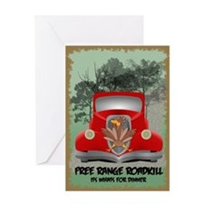 Funny Roadkill Greeting Card