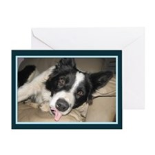 Puppy Tongue Greeting Card