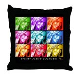 Pop Art Janie Throw Pillow