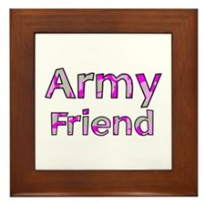 Army Friend Pink Camo Framed Tile