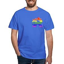 Rainbow Dog Black T-Shirt