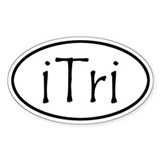 iTri Triathlon Oval Decal