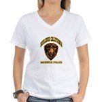 Redlands Mounted Police Women's V-Neck T-Shirt