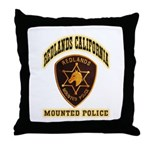 Redlands Mounted Police Throw Pillow