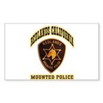 Redlands Mounted Police Sticker (Rectangle 50 pk)