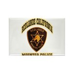 Redlands Mounted Police Rectangle Magnet (100 pack