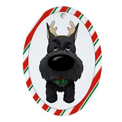 Schnauzer Christmas Ornament (Oval)