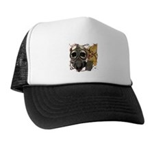 Biohazard Skull in Mask Trucker Hat