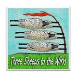 Three Sheeps to the Wind Tile Coaster