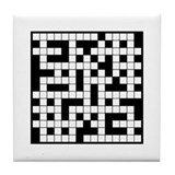 Crossword Cafe Tile Coaster