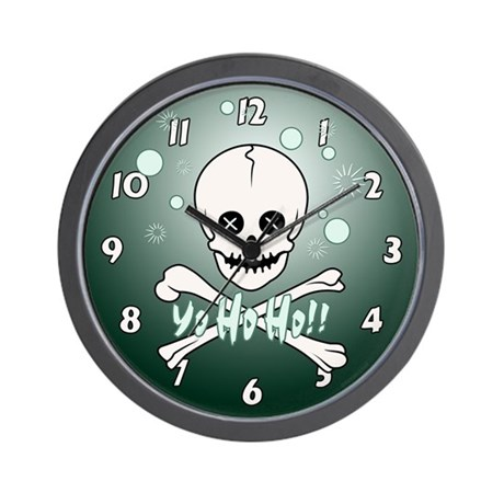 Yo Ho Skull Wall Clock