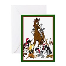 Christmas Animals Greeting Card