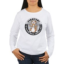 Brain Cancer Fighter Cat T-Shirt