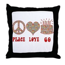 Unique Peace love birthday Throw Pillow